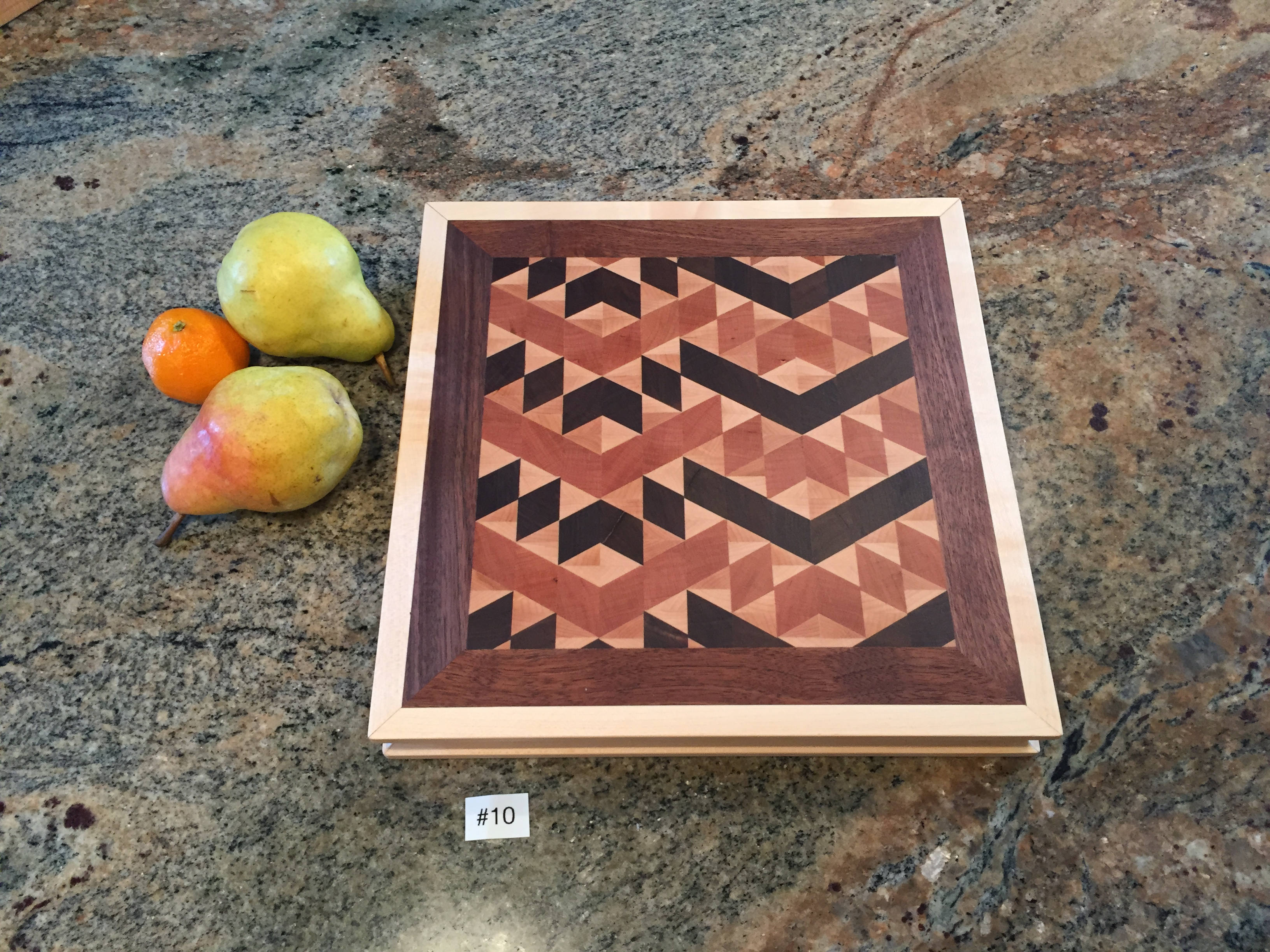 #10 Square Serving/cutting board