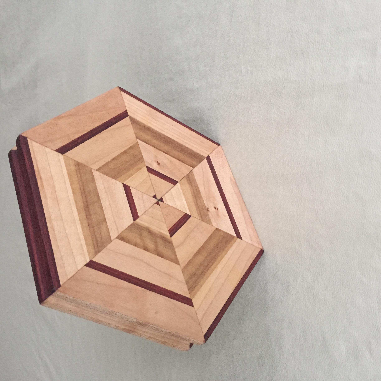 Hexagon serving/cutting board, edge grain (not end grain)