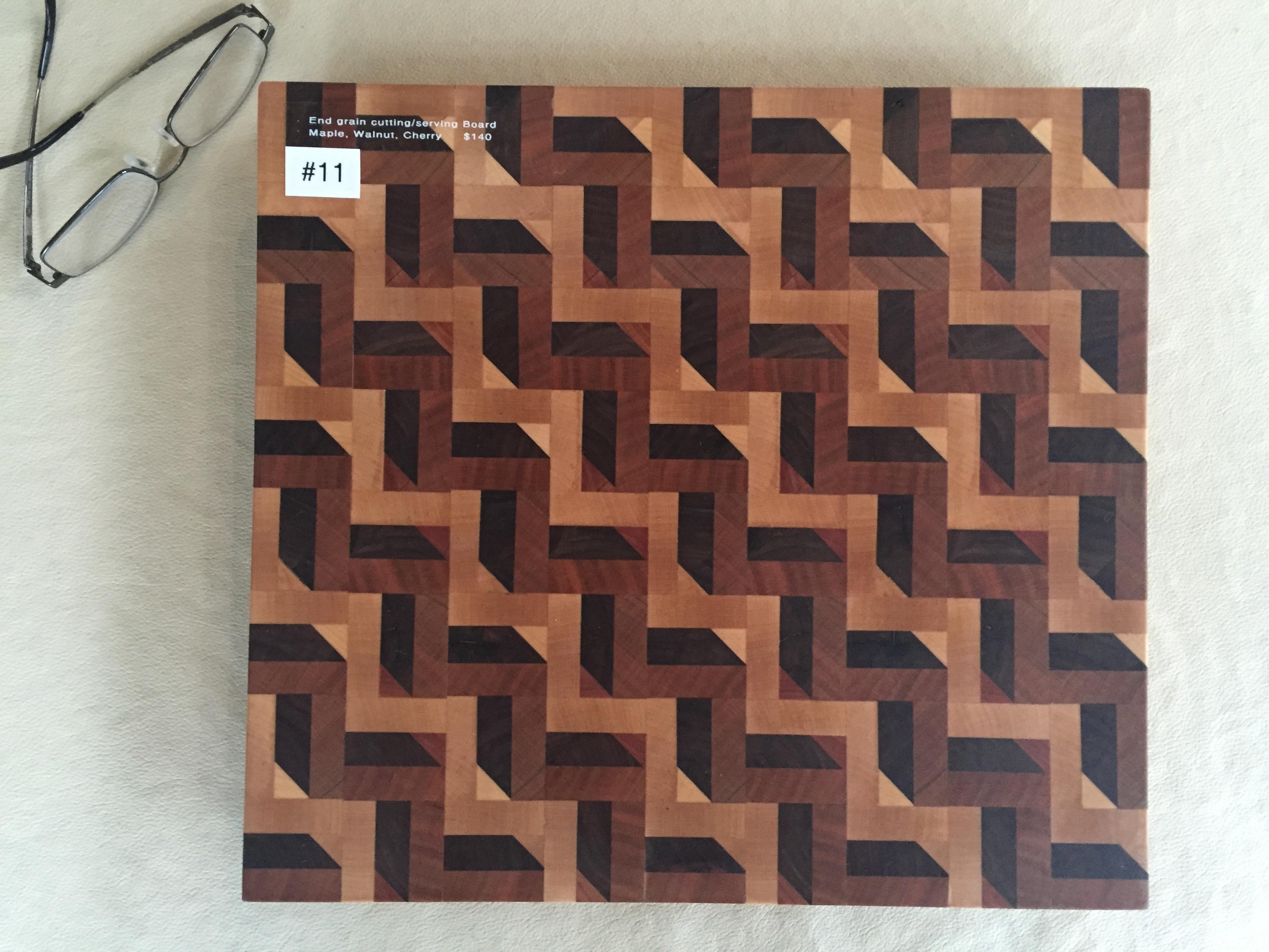 #11 Rectangular serving/cutting board 3D illusion