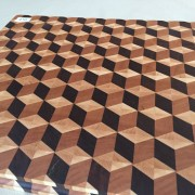 #16 Rectangular serving/cutting board 3D illusion