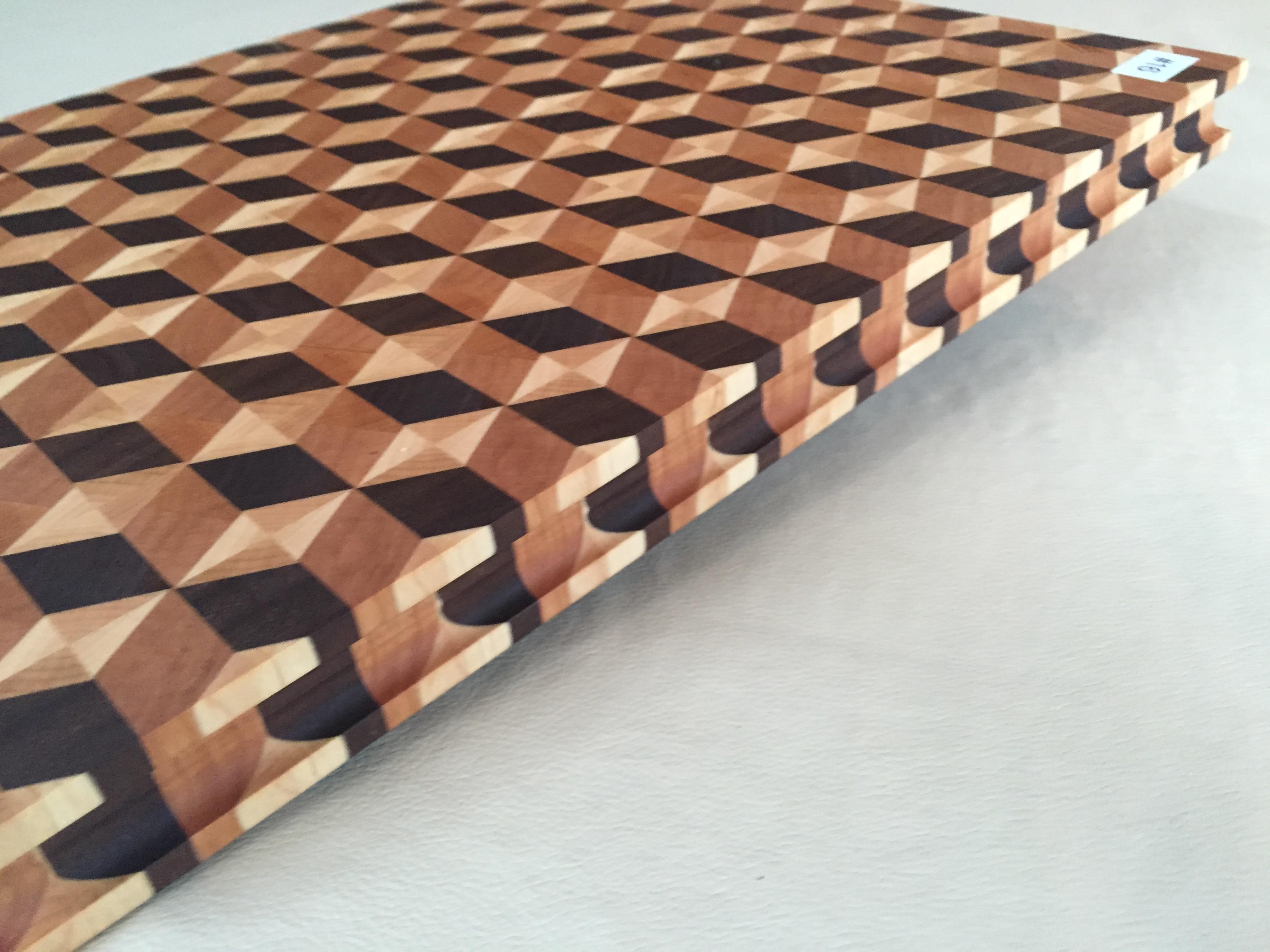 #16 Rectangular serving/cutting board 3D illusion
